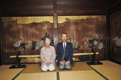 元京都大学総長 長尾真御夫妻 正式参拝